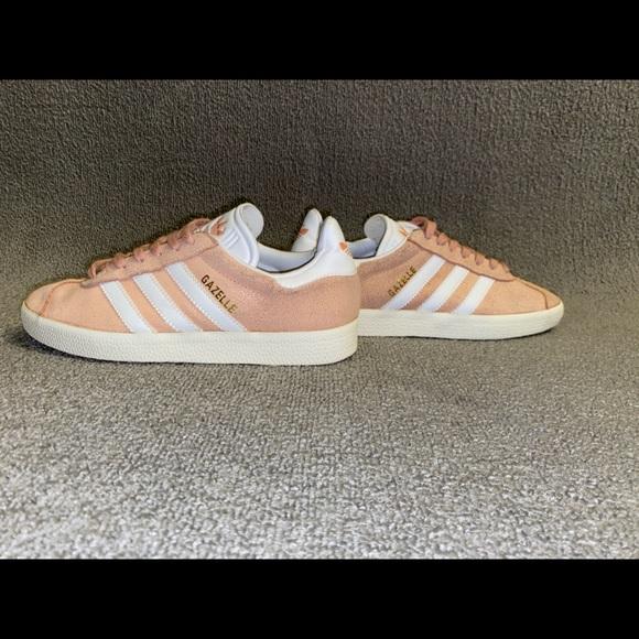 peach suede shoes